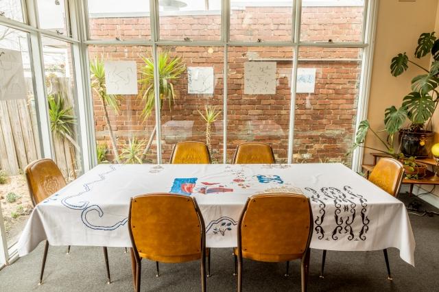 Christo Chrocker (windows) & Virgina Overell (Table)