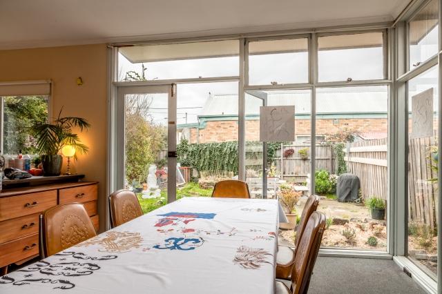 Christo Crocker (window), Virginia Overell (table) & Noriko Nakamura (yard)